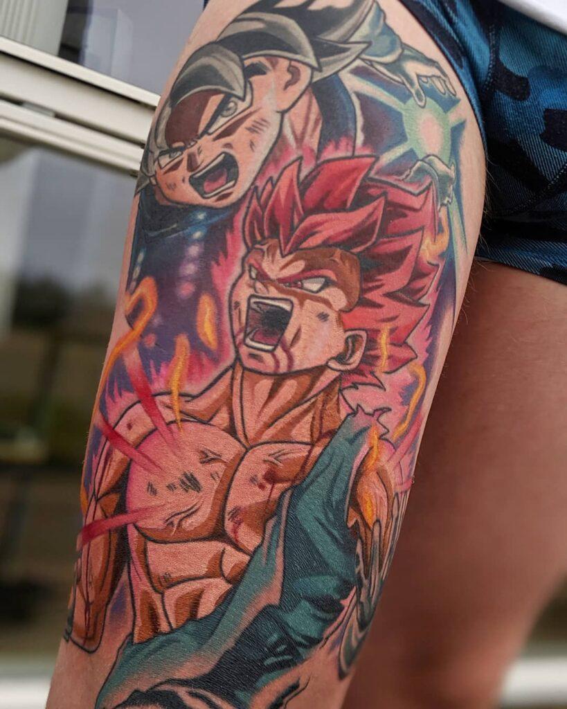 tattoo sleeve dragon ball anime