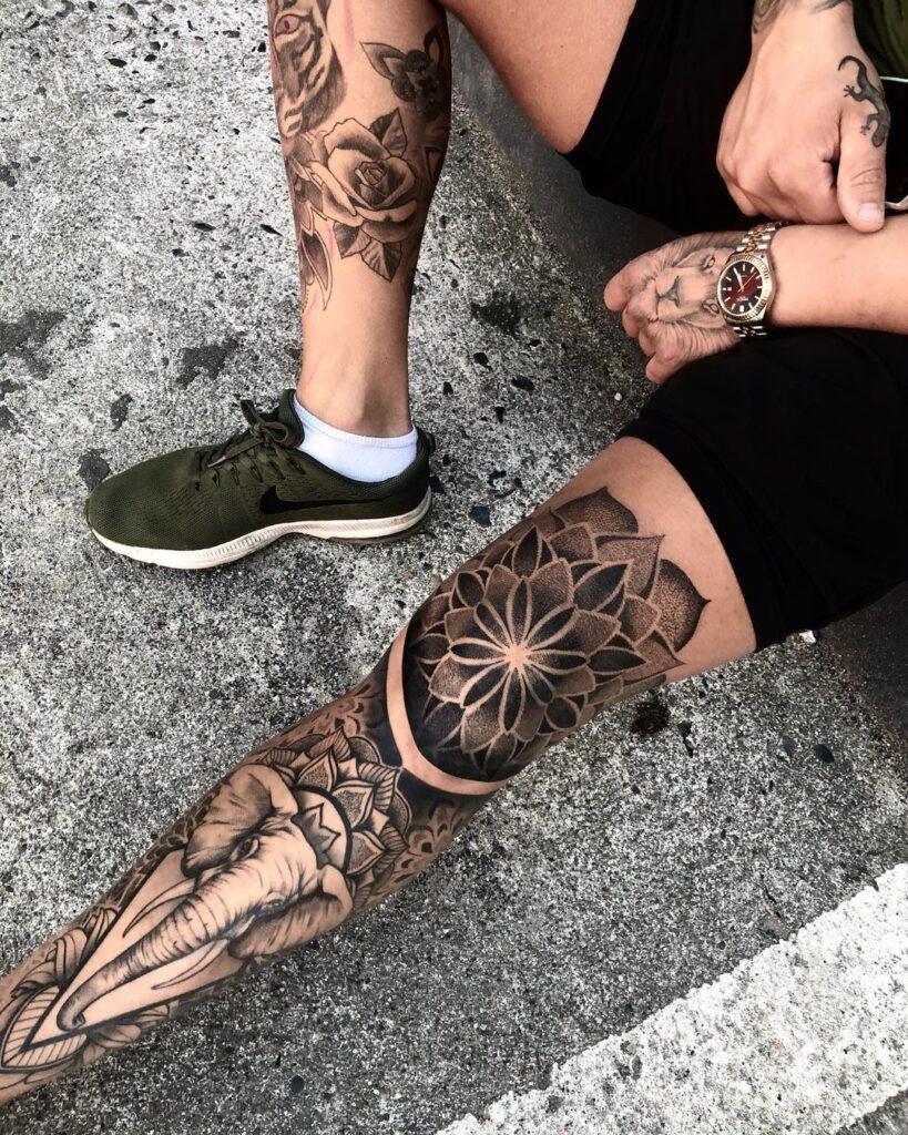 Tattoo sleeve leg