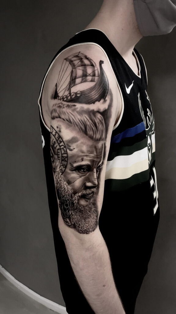 Viking arm tattoo
